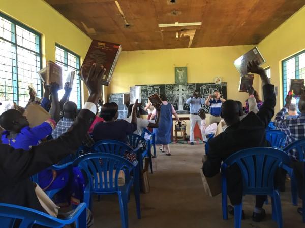 Elizabeth Bumpas and team deliver bibles